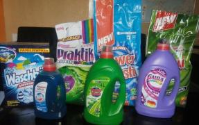 Stain removers, capsules, gels and washing powder from Germany